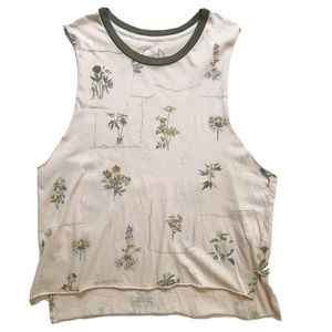 Chaser Flower Print Sleeveless Tank Top Size Small